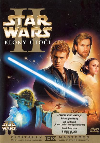 Obal DVD: Star wars 2 - Klony útočí